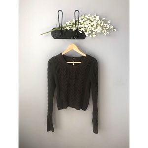 🎀 Free People • Thick Knit Cropped Sweater